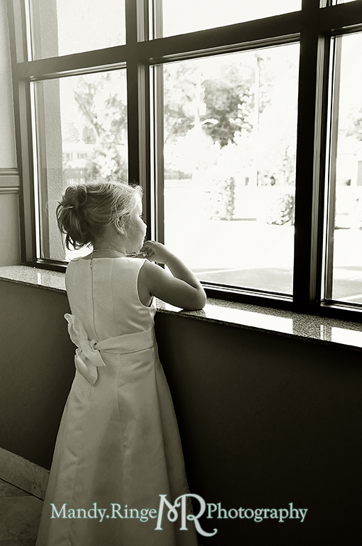 Flower girl // Wedding Photography // Lincoln Inn Banquets - Batavia, IL // by Mandy Ringe Photography