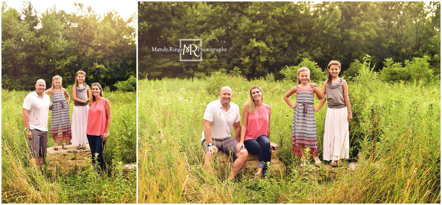 Summer extended family portraits // prairie, rocks, outdoors // Leroy Oakes - St. Charles, IL // by Mandy Ringe Photography