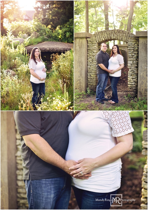 Maternity portraits // summer, outdoors // Fabyan Forest Preserve - Geneva, IL // by Mandy Ringe Photography