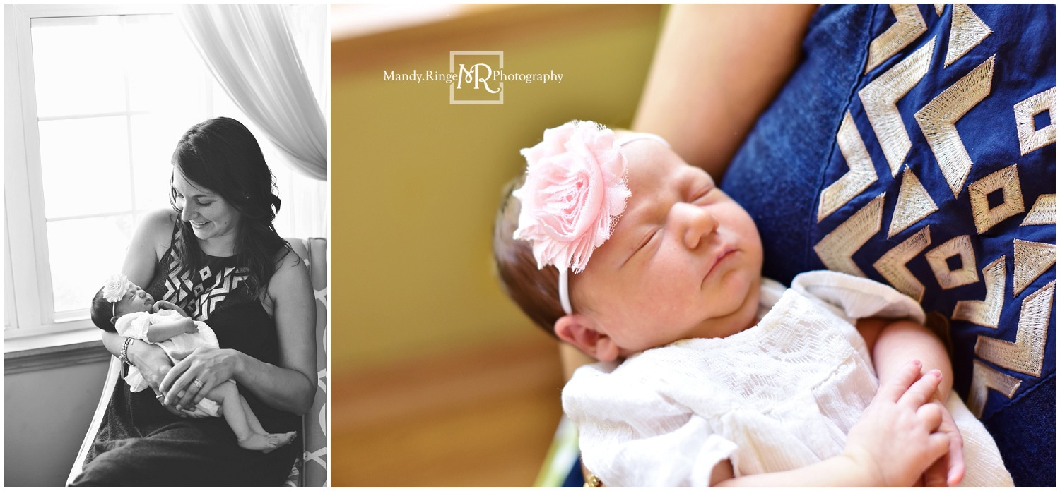 Newborn girl portraits // St. Charles, IL // by Mandy Ringe Photography