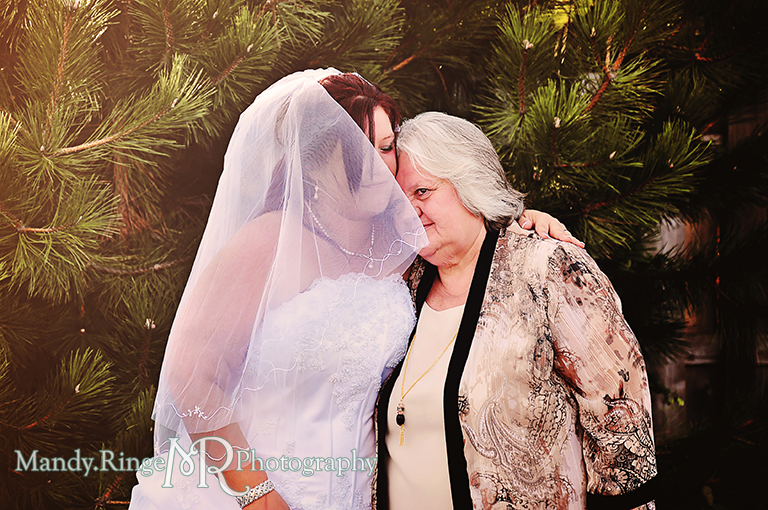 Candid moment of the bride with her mother // Wedding Photography // Lincoln Inn Banquets - Batavia, IL // by Mandy Ringe Photography