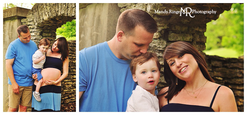 Family & Maternity Portraits // Outdoors in spring // Fabyan Forest Preserve - Geneva, IL // by Mandy Ringe Photography