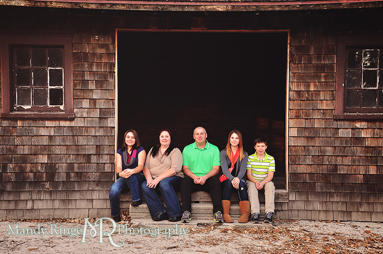 Autumn family portraits // Fabyan Forest Preserve - Batavia, IL // by Mandy Ringe Photography