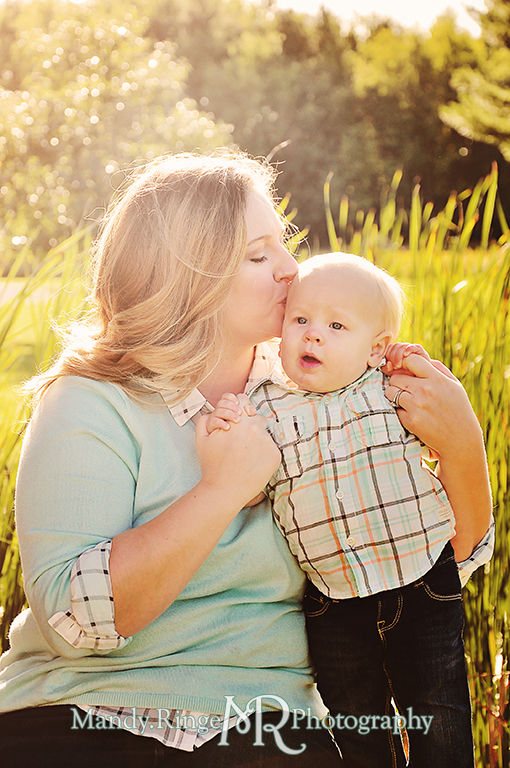 Family photos, mother and son, in front of reeds // Leroy Oaks // St Charles, IL // by Mandy Ringe Photography