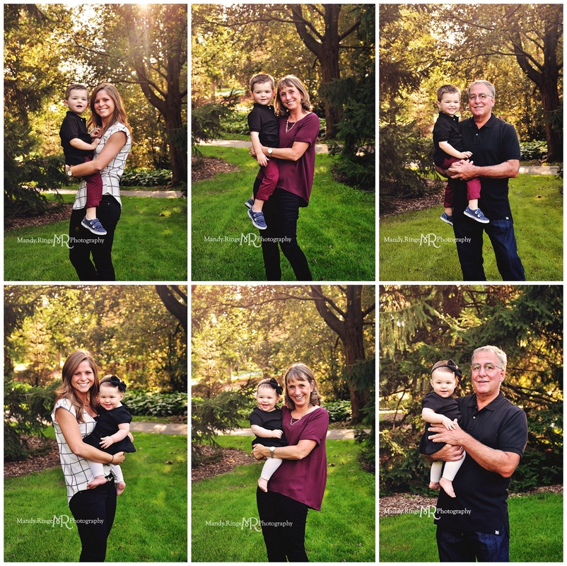 Extended family photos // end of summer, early fall // Cantigny Gardens - Wheaton, IL // by Mandy Ringe Photography