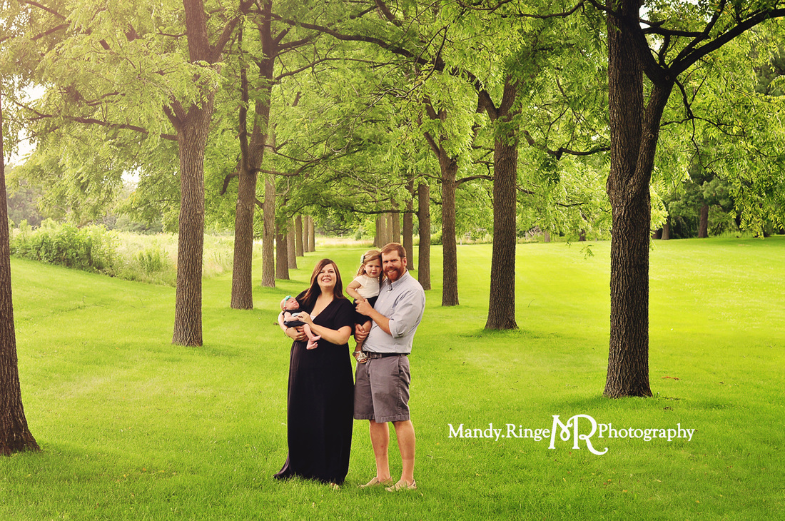 Family portraits // Rows of trees, allée // St. James Farm - Winfield, IL // by Mandy Ringe Photography