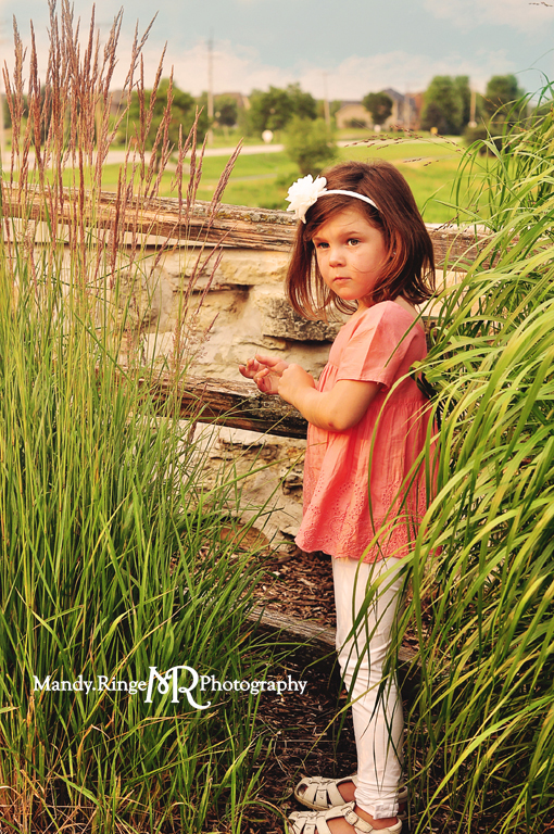 Extended family portrait session // Standing near a wooden fence // Peck Farm Park - Geneva, IL // by Mandy Ringe Photography