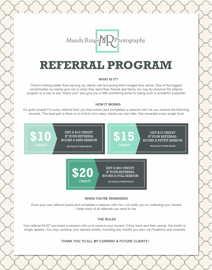 Mandy Ringe Photography - St. Charles, IL Photographer // Referral Program