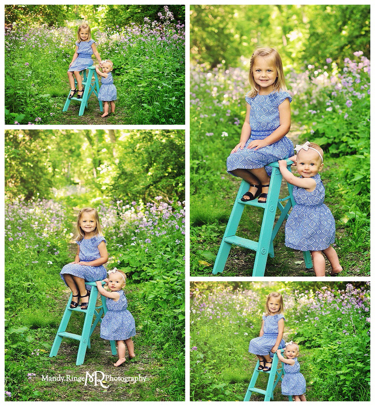 Sisters - Sibling portraits // Outdoor spring photos // Fabyan Forest Preserve - Geneva, IL // by Mandy Ringe Photography