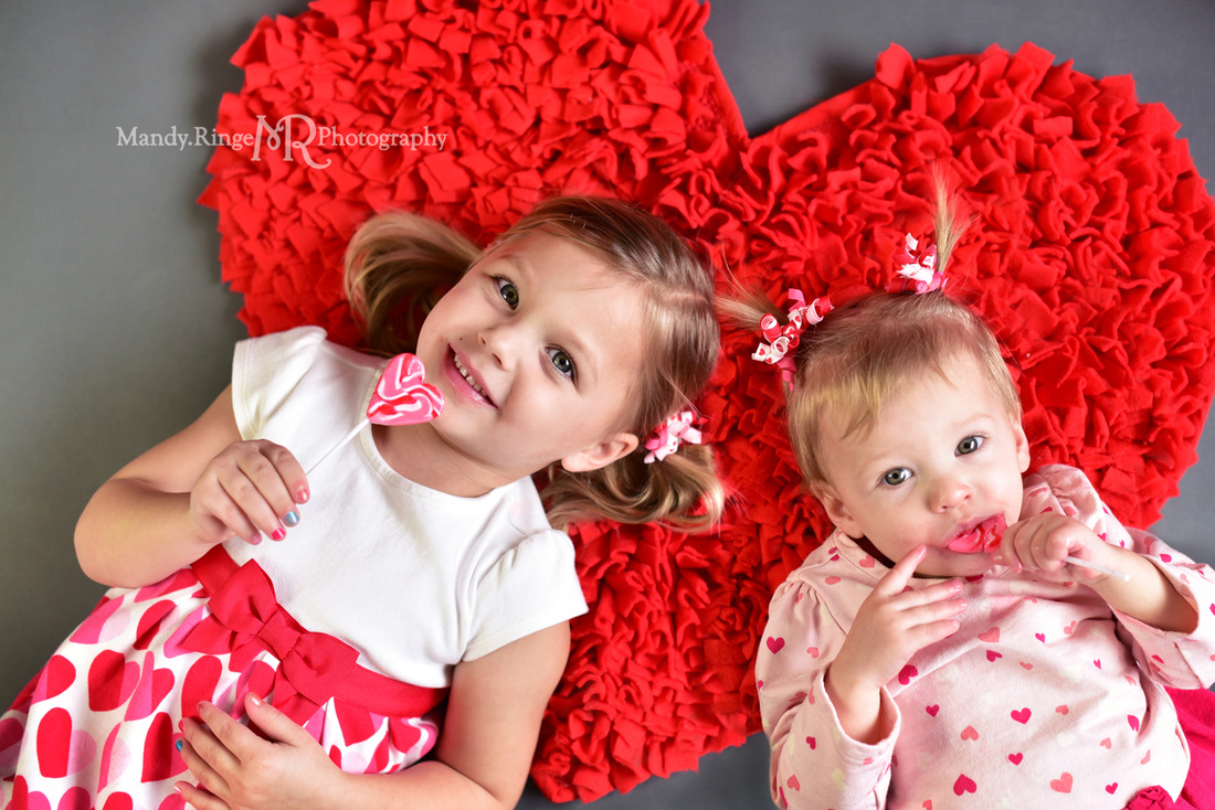 Valentine's Mini Session // Red heart rug // St. Charles, IL // by Mandy Ringe Photography