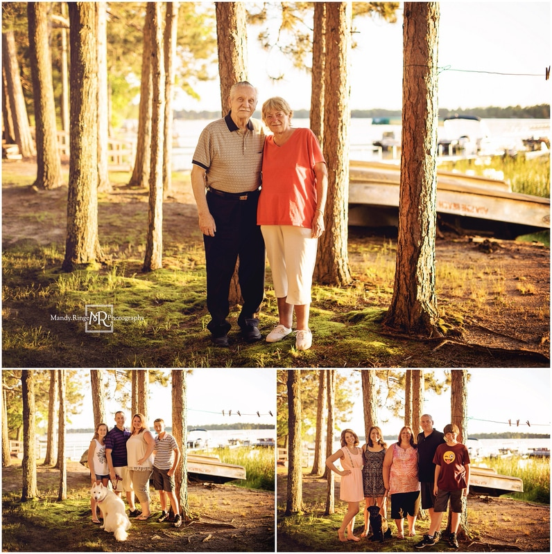 Extended Family Vacation Portraits // outdoors, lake, pine trees // Lake Ada - Backus, MN // by Mandy Ringe Photography