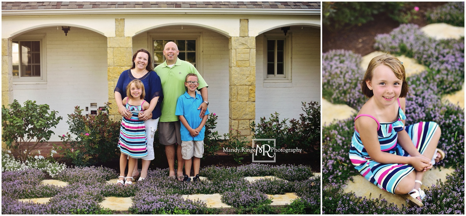 Summer family portraits // purple flowers // Leroy Oakes - St. Charles, IL // by Mandy Ringe Photography