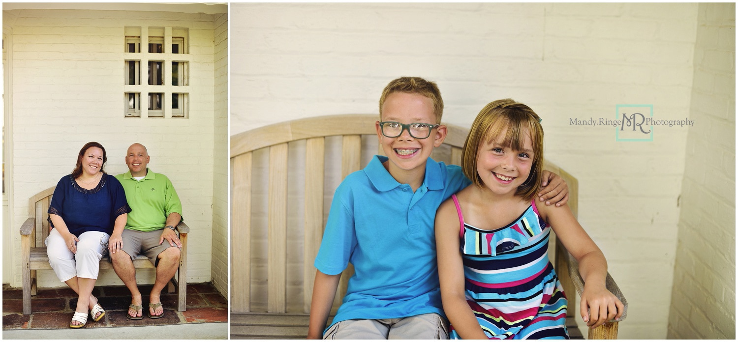 Summer family portraits // nature center bench // Leroy Oakes - St. Charles, IL // by Mandy Ringe Photography
