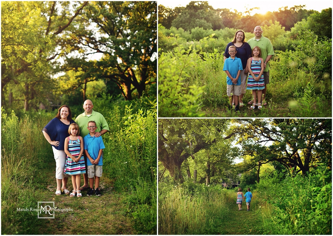 Summer family portraits // wooded path // Leroy Oakes - St. Charles, IL // by Mandy Ringe Photography