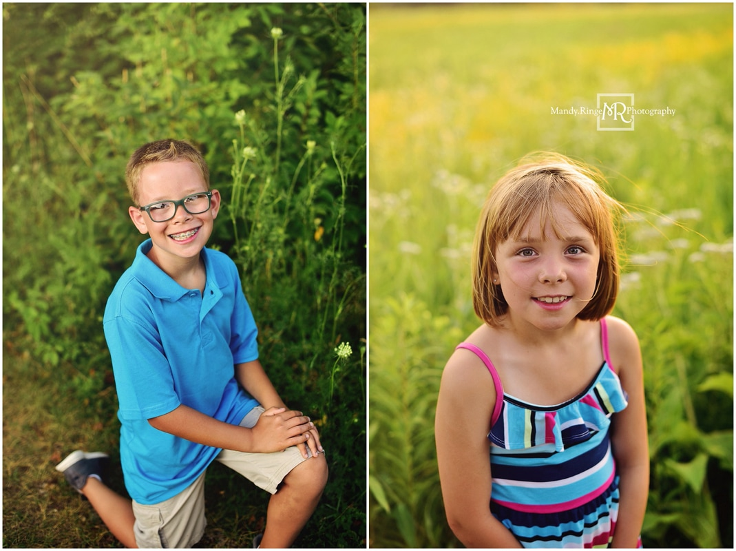 Summer family portraits // siblings // Leroy Oakes - St. Charles, IL // by Mandy Ringe Photography