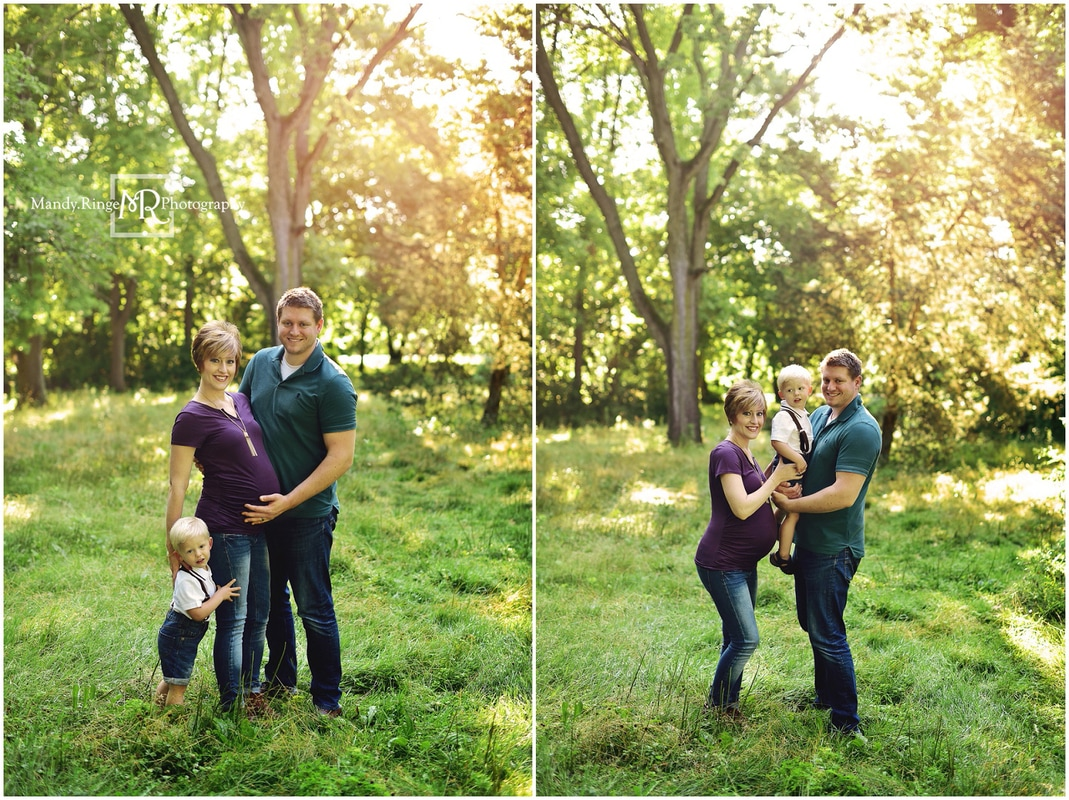 Maternity portraits // family, outdors, it's a girl // Fabyan Forest Preserve - Geneva, IL // by Mandy Ringe Photography