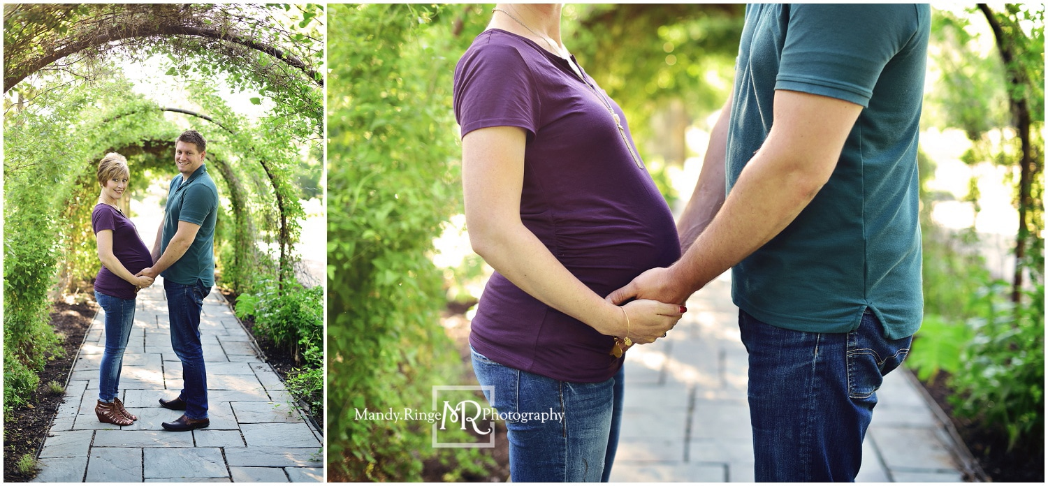 Maternity portraits // family, outdors, it's a girl // Fabyan Forest Preserve - Geneva, IL // by Mandy Ringe PhotographyPicture