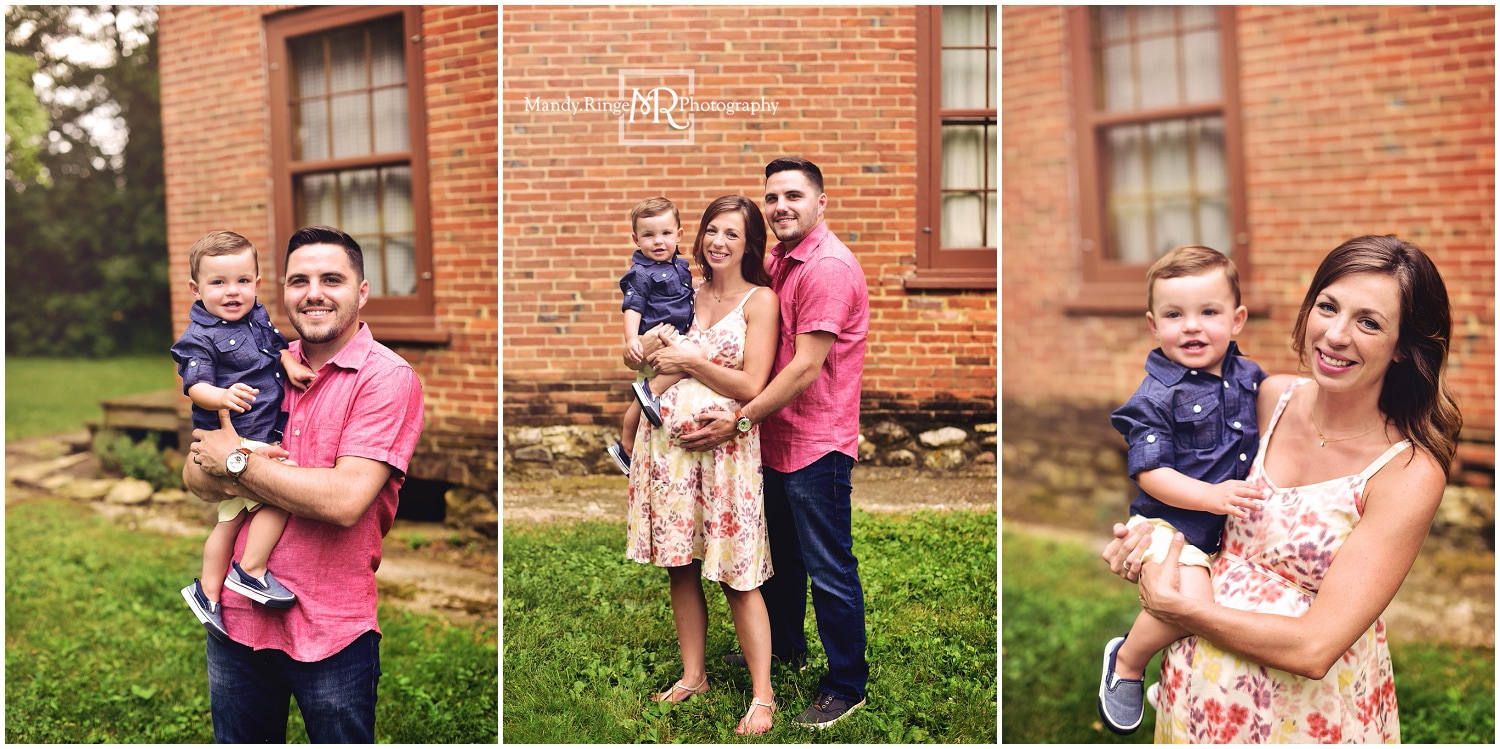 Family and maternity portraits // summer, big brother, soon to be four // Leroy Oakes - St. Charles, IL // by Mandy Ringe Photography