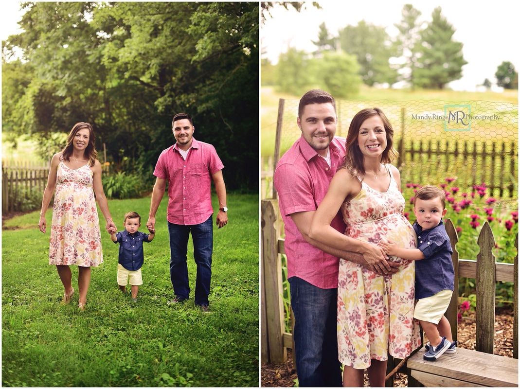 Family and maternity portraits // summer, garden, big brother, soon to be four // Leroy Oakes - St. Charles, IL // by Mandy Ringe Photography