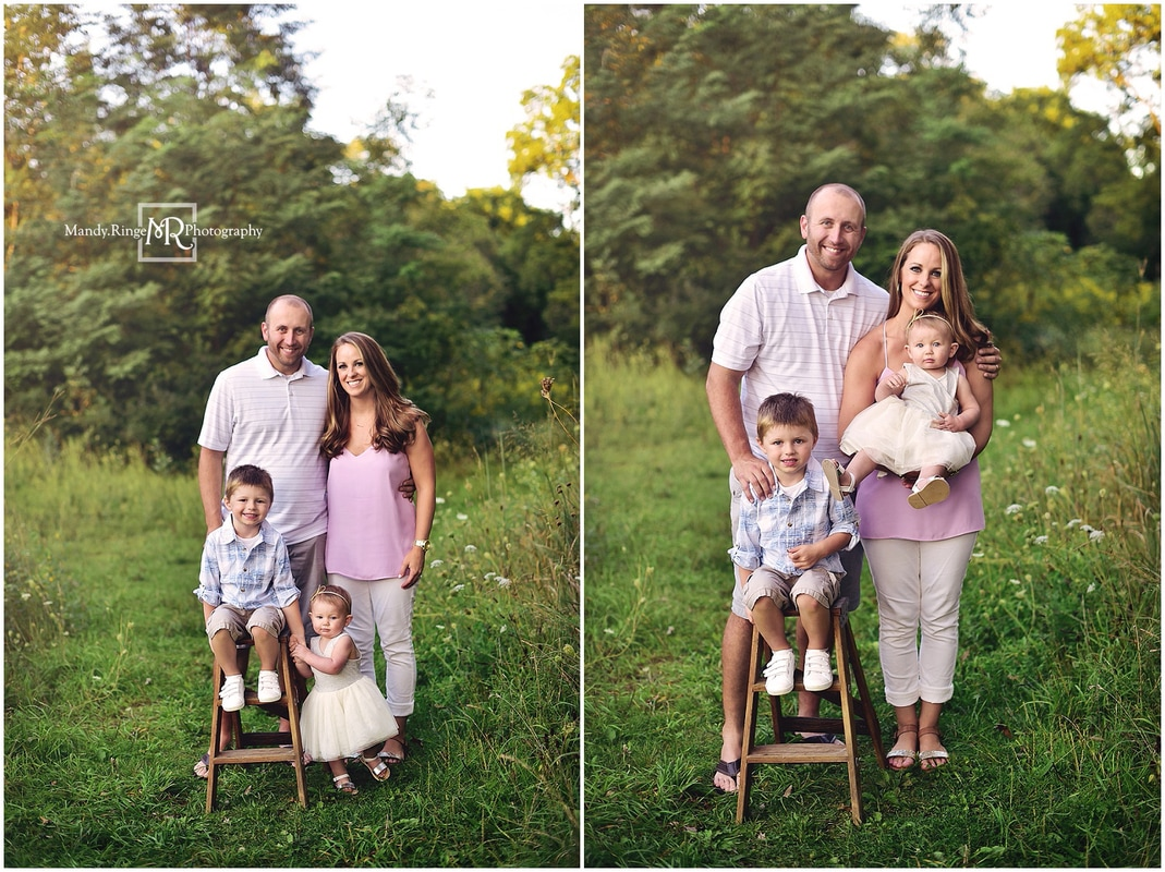 Summer family portraits // outdoors, praire, forest, creek // Leroy Oakes Forest Preserve - St. Charles, IL // by Mandy Ringe Photography