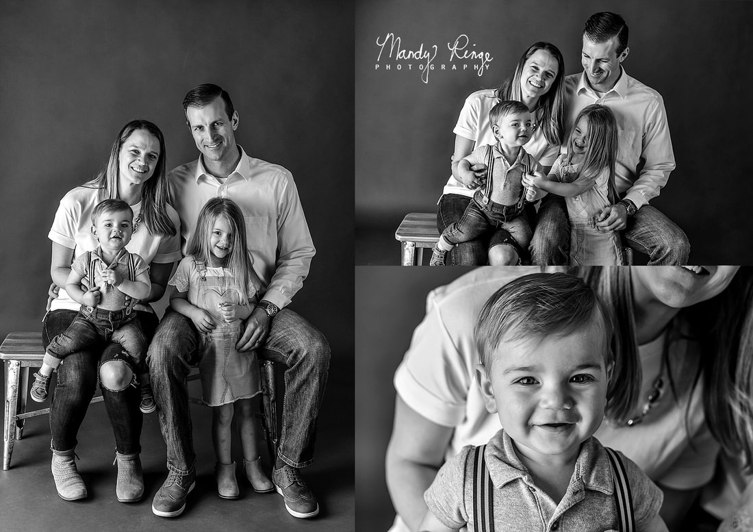 Black and white family portraits // simple, minimal, minimalistic // St Charles, IL Photographer // by Mandy Ringe Photography