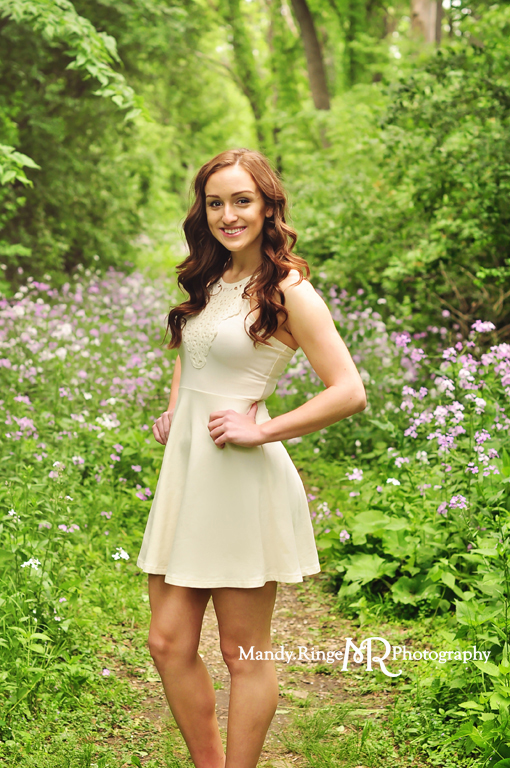 Senior girl portraits // Fabyan Forest Preserve - Geneva, IL // by Mandy Ringe Photographer