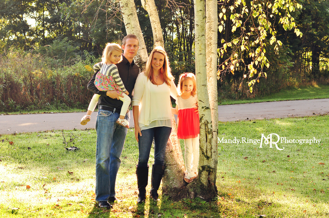 Family portraits // Birch tree // Leroy Oakes Forest Preserve - St. Charles, IL // by Mandy Ringe Photography
