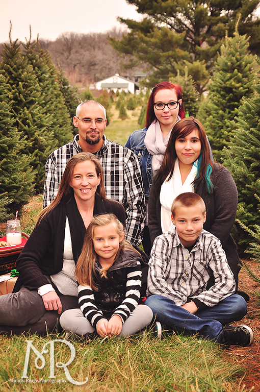 Family Christmas Portrait // Christmas Tree Farm // with milk, cookies and a letter to Santa // by Mandy Ringe Photography