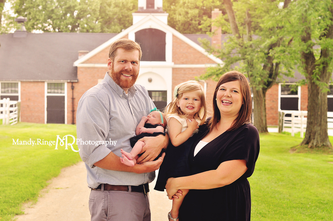 Family portraits // Brick stables // St. James Farm - Winfield, IL // by Mandy Ringe Photography