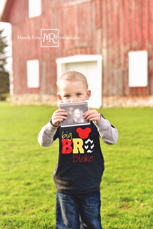 Maternity portraits // rustic barn, big brother, family of three // Leroy Oakes - St. Charles, IL // Mandy Ringe Photography