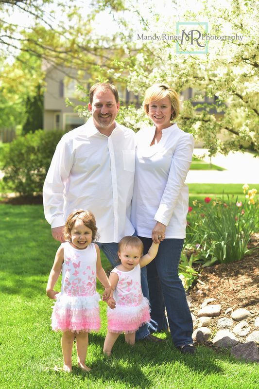 Spring family portraits // Client's home // Batavia, IL // Mandy Ringe Photography